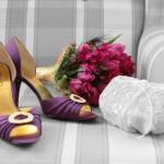 Pantofi de mireasa colorati mov