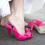 Pantofi de mireasa colorati roz
