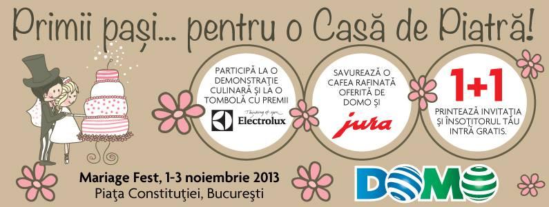 """Mariage Fest"" 1-3 noiembrie 2013 din Piata Constitutiei"